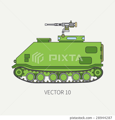 Line flat color vector icon infantry assault 28944287