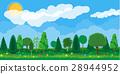Summer nature landscape, national park. 28944952