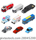 Cars Set Isometric View. Vector 28945200