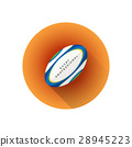 rugby, ball, vector 28945223