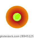 vector flat color tennis ball. 28945225
