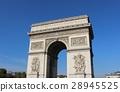 blue sky, arc de triomphe, overseas 28945525
