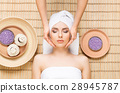 Beautiful and healthy woman in a spa salon 28945787