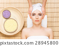 Beautiful and healthy woman in a spa salon 28945800