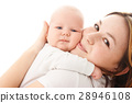 Cute little baby embrace his mother 28946108