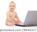 Little baby with laptop 28946357
