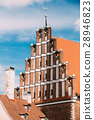 Riga, Latvia. Facade Of Old Medieval House In 28946823