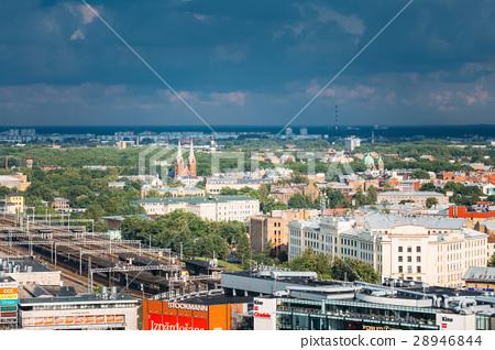 Riga, Latvia. Aerial Cityscape In Sunny Summer Day 28946844