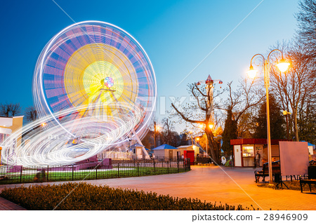 Rotating In Motion Effect Illuminated Attraction 28946909