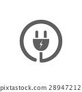 plug, icon, vector 28947212