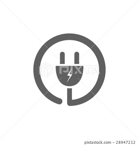 Plug icon on a white background 28947212