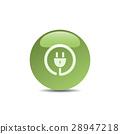 Plug icon on green bubble 28947218