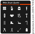 Garden tools simply icons 28947493