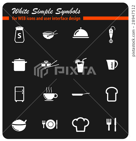 Food and kitchen simply icons 28947512