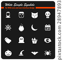 Halloween simply icons 28947893