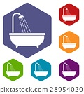 Shower icons set 28954020