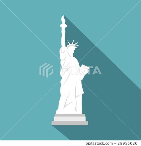 Statue of Liberty icon , flat style 28955020