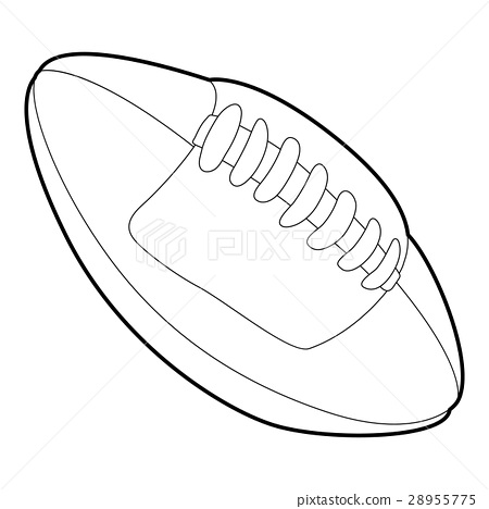 Rugby ball icon, outline style 28955775