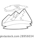 Mountain icon , outline style 28956034