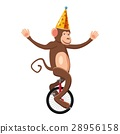 Circus monkey icon, cartoon style 28956158