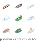 Ship and boat icons, isometric 3d style 28956322