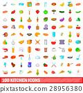 100 kitchen icons 28956380