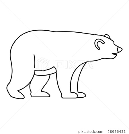 Bear icon, outline style 28956431