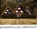 长满茅草的椽架屋顶 旅游业 观光 28958424
