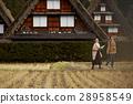长满茅草的椽架屋顶 旅游业 观光 28958549
