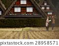 長滿茅草的椽架屋頂 遊覽 旅遊業 28958571
