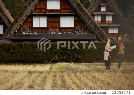 长满茅草的椽架屋顶 旅游业 观光 28958571