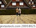 长满茅草的椽架屋顶 旅游业 观光 28958625