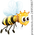 isolated bee crown 28959807