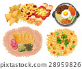 Different kinds of food on white background 28959826