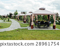 Picture of beauty garden with modern gazebo 28961754