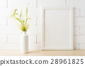 White frame mockup yellow green wild grass ears 28961825