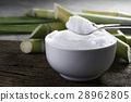 granulated sugar in silver spoon Empty ready  28962805
