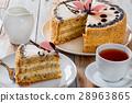 sponge, cake, cream 28963865