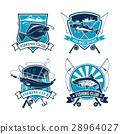 Fishing sport club vector icons set 28964027