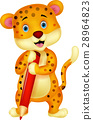 pencil cheetah write 28964823