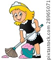 Cleaning lady theme image 2 28965071