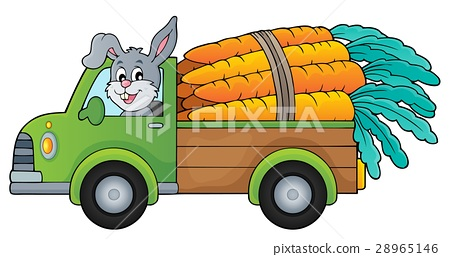 Truck with carrots theme image 1 28965146