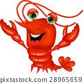 龙虾 卡通 矢量 28965659