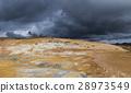 Geothermal Landscape Krafla in Iceland Tourists 28973549