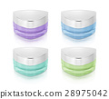 Cool color triangle cosmetic jar on white 28975042