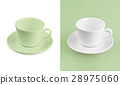 Cup on white & green background 28975060