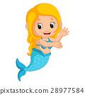 cute mermaid cartoon 28977584