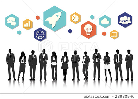Vector UI Illustration Business People Concept 28980946