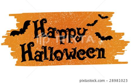Halloween Trick Treat Spooky Creepy Pumpkin Concept 28981023