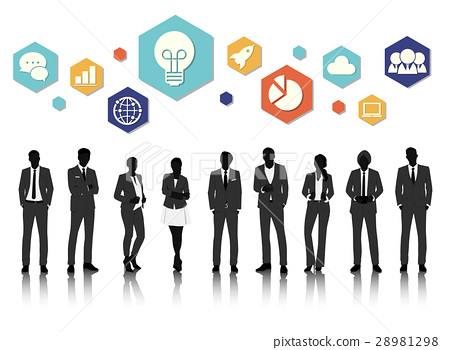 Group of business vector set collection 28981298
